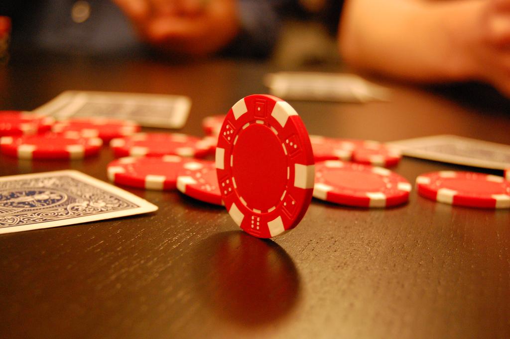 Poker set of trips