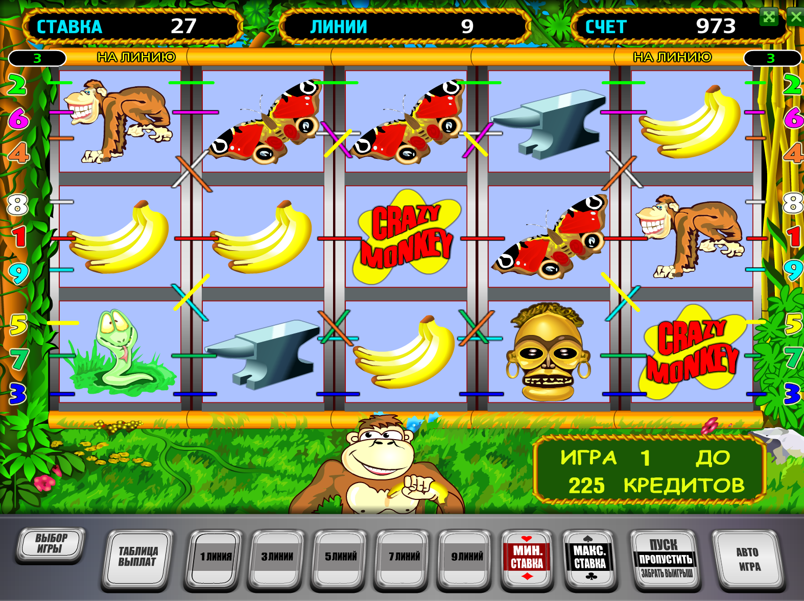 Онлайн игровые автоматы крейзи манки почему в москве нет казино
