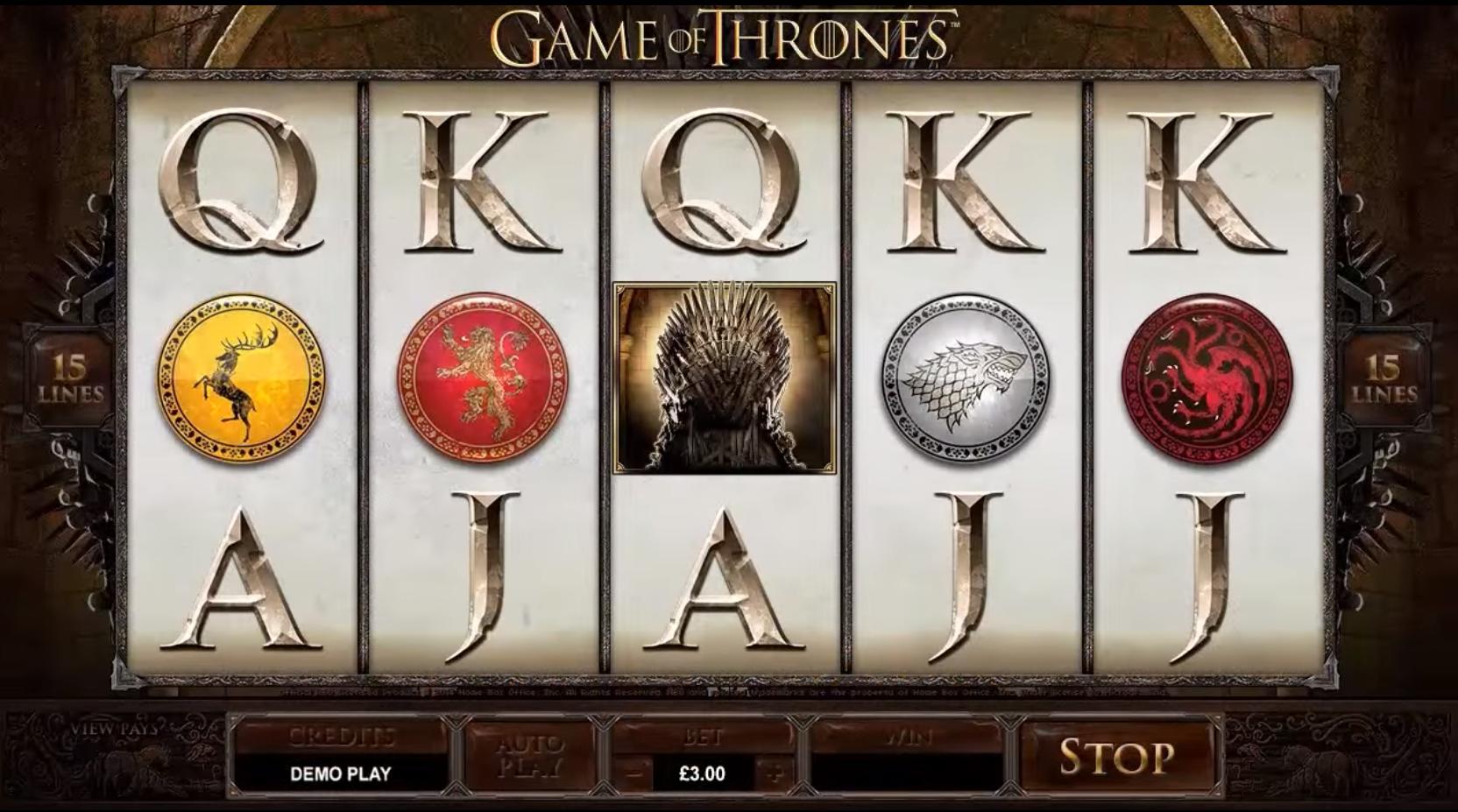 Game of thrones slot machine 2019